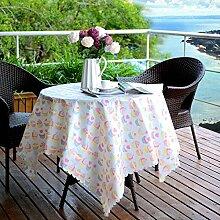 Longzhi Wasserdicht und Ölfesten Tabelle Mat Tischdecke Tischdecke Tuch Kunst ländlichen Stil Kaffee Tischdecke 1,37 x 1,8 m