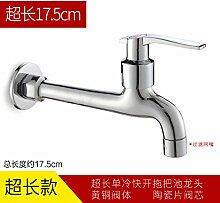 LongZi helle China Sanitär, erweiterte mop Badewanne, Waschmaschine, spritzwassergeschützt net, einem kalten Wasserhahn, lange mesh Mund (Kaiser)