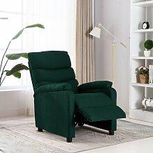 Longziming - Relaxsessel Dunkelgrün Stoff - Grün