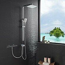Lonheo Edelstahl Duschset Duschsystem ohne