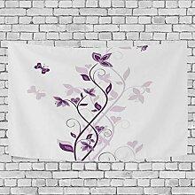 LONLYTISA Purpurroter violetter Baum-wirbelnder