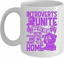 LookHUMAN Introverts Unite! Kaffeebecher aus