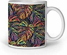 Loomiloo Tasse Colorful Tropical Leaves Tassen