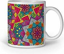 Loomiloo Tasse Mandalas Colourfull Tassen
