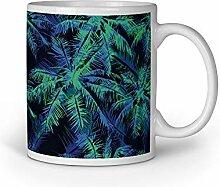 Loomiloo Tasse Nacht Palme Tassen Kaffeebecher