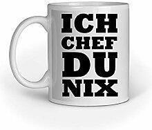 Loomiloo Tasse Spruch Ich Chef Du Nix Tassen
