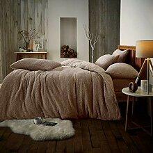 Looms-Work® Teddy-Fleece-Bettwäsche-Set,