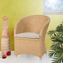 Loomsessel Sessel aus Loom Vesuv Rattangestell Natur