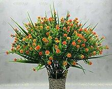 lopkey Kunststoff Baby 's Breath Blumen Gladiolen Künstliche Blumen für Hochzeit/Zuhause/Büro Decor orange