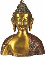 Lord Buddha-Büste–Messing Statue