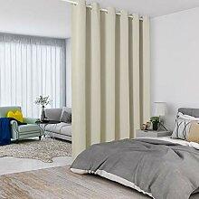 Lordtex cremefarbene Raumteiler-Vorhänge –