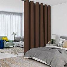 Lordtex Raumteiler-Vorhänge in Schokoladenbraun