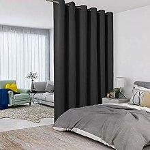 LORDTEX Schwarze Raumteiler-Vorhänge – totale