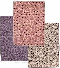Lorena Canals Kinderteppich FLOWERS, 100% Wolle, light-rosa, 140x200cm