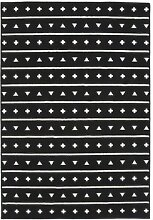 Lorena Canals Teppich Muster, Acryl, schwarz,
