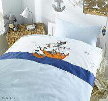 Snurk Bettwäsche Pirate Pirat Motivbettwäsche Kinder Fotodruck weiß 135 x 200