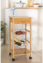 Lorenz Bambus Küchenwagen Bambus Sklum