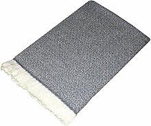 LORENZO CANA Luxus Kaschmirdecke 100% Kaschmir flauschig weiche Wohndecke Decke handgewebt Sofadecke Kaschmirdecke Wolldecke