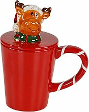 LORENZON GIFT NBK-2506 Weihnachtsbecher, Keramik,