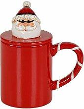LORENZON GIFT NBK-2507 Weihnachtsbecher, Keramik,