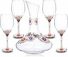 Loroude Rotweinglas Kelch Rotweinglas Dekanter Set