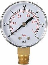 Lorsoul 0-15psi 0-1bar BSPT 50mm