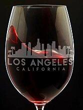 Los Angeles Weinglas Los Angeles Skyline Los
