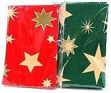 Los von 6 - Weihnachtstischdecke Muster Vlies Sterne rot oder grün - Qualität COOLMINIPRIX®