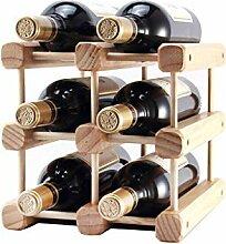 LOSKDMMJIO Weinregal-Massivholz Wein Regal