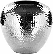 LOSONE/Vase,vernickelt,gehämm./H25cmD25cm