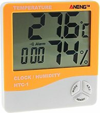 Auto KFZ Doppeltemperatur Innen Außen LCD Digital Uhr Thermometer Hygrometer