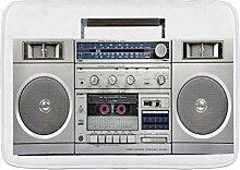 LOSUMIGE Badematte Hörlautsprecher Silber Radio