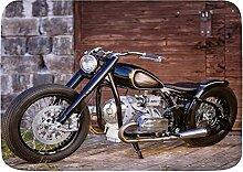 LOSUMIGE Badematte Motorrad Stein Ziegel Wand