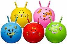 LOT DE 6–Hüpfball Gesicht Tier Ø 46cm verschiedene Farben–Qualität coolminiprix®