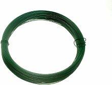 Lot Of 20 Green Plastic Coated Gartenzaun Draht 1,2 mm x 0,75 mm x 30 Meter