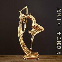 Lotefong Dekoration Basteln Home Wohnzimmer Tv-Schrank Moderne Büro Dekoration, Golden Dance Ein