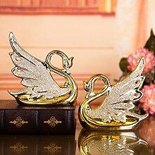 Lotefong Die Hochzeit Geschenk Heimtextilien Keramik Schmuck Braut Dekoration Dekoration Basteln Auf Einem Vergoldet Vergoldete Swan Swan