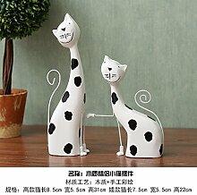 Lotefong Die Hölzernen Katze Lucky Cat Lovers Kreative Wohnzimmer Dekoration Dekoration Dekoration Handwerk Geschenk Inneneinrichtungsgegenstände,Geliebte Katze B