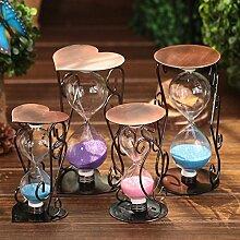 Lotefong Pflaumenblüten Kupfer Art Kreativ Möbel Dekoration Dekoration, 12 Cm Herzen, Rosa Sanduhr