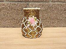 Lotefong Vase Dekoration Blumentöpfe Blumen, Gold