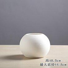 Lotefong Vase Home Wohnzimmer Tv-Schrank Dekorative Creative Flower Ornament Ornament, Weiße Vase F