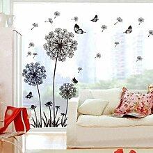 Loterong Kreative Persönlichkeit Baum 3D Acryl Three-Dimensional Wandaufklebern schmücken die Schlafzimmer an der Wand im Wohnzimmer TV-Wand Dekoration Aufkleber, 024 neue Wälder - Sky rosa Blätter schwarz Niederlassungen Links, Klein