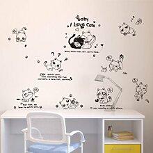Loterong Kreative Persönlichkeit Baum 3D Acryl Three-Dimensional Wandaufklebern schmücken die Schlafzimmer an der Wand im Wohnzimmer TV-Wand Dekoration Aufkleber, 024 New Forest - Flaches Purple Orange Schwarz Rechts, Klein