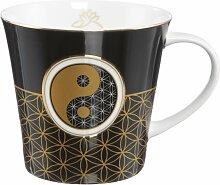 Lotus Becher Tasse Yin Yang schwarz mit