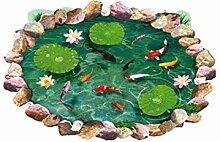 Lotus Fisch 3D Boden Aufkleber Badezimmer