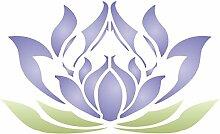 Lotus Flower Schablone-wiederverwendbar Groß