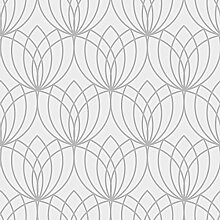 Lotus Geometrische Tapete silber Muriva 148501