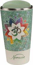 Lotus Kaffeebecher to go Om grün Bambus Kombi, H.