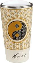 Lotus Kaffeebecher to go Yin Yang weiß Bambus
