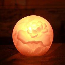 Lotus kerze Lotuskerze Flammenlose Kerze, Lotus Form des flammenlos Echtwachs Elektronische LED Kerzen mit Timer (Geprägte Rosa Lotus) (Lotus)